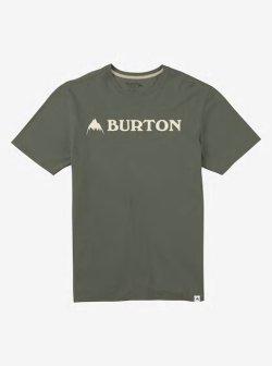 画像1: BURTON Men's Burton Horizontal Mountain Short Sleeve T Shirt Dusty Olive