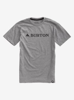 画像1: BURTON Men's Burton Horizontal Mountain Short Sleeve T Shirt Gray Heather